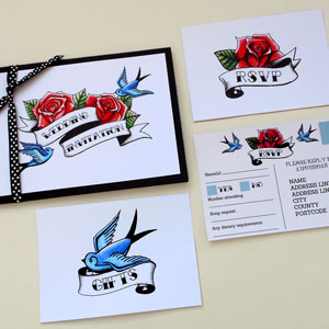 swallows and roses wedding